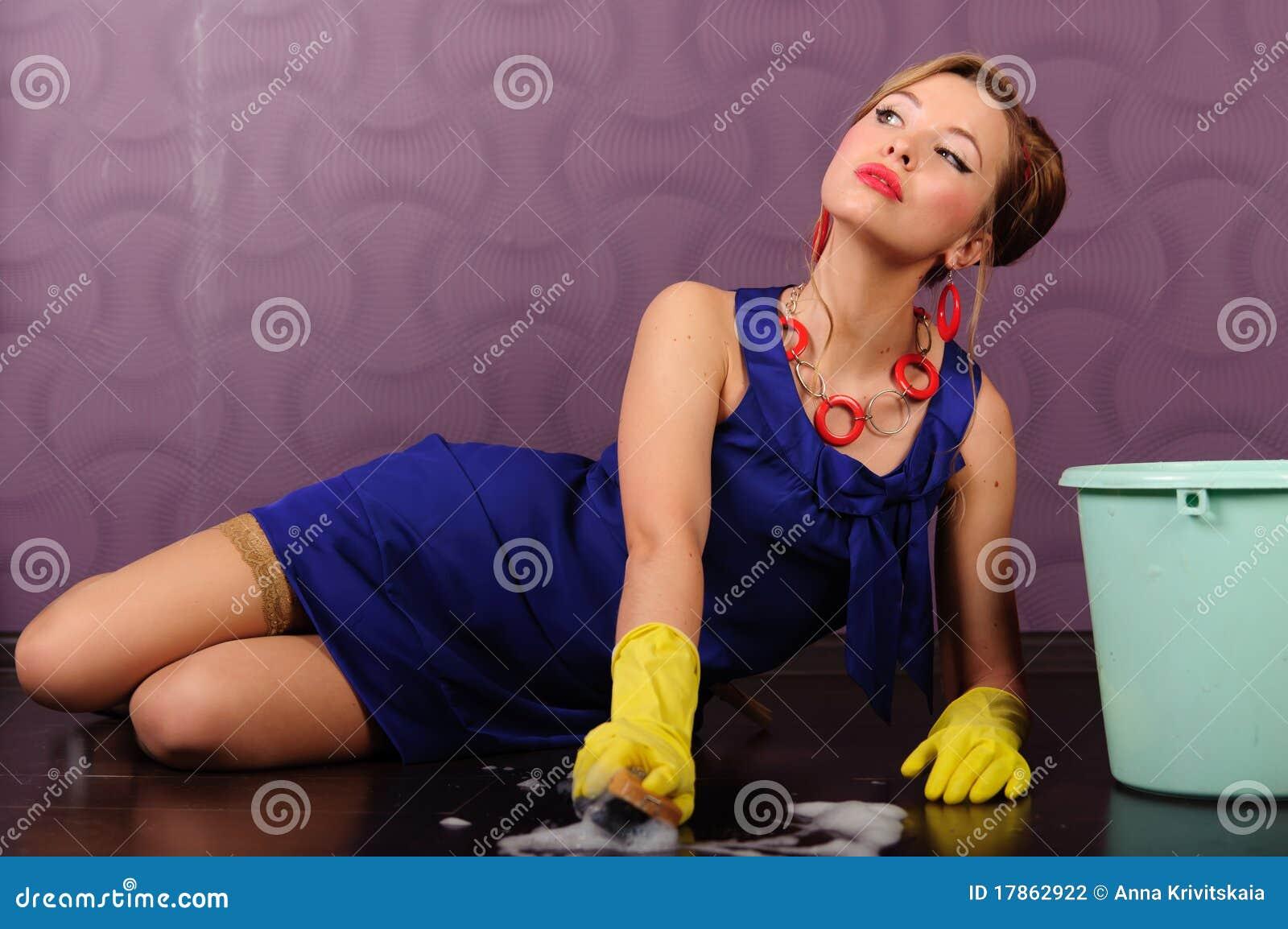 Gospodyni domowej up wałkowy seksowny