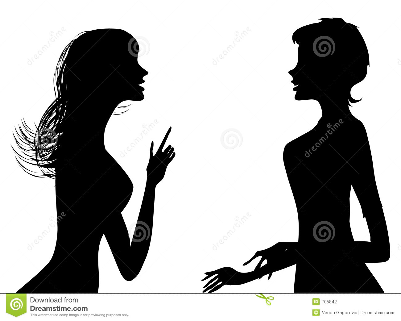 Gossip Silhouette Stock Photography - Image: 705842