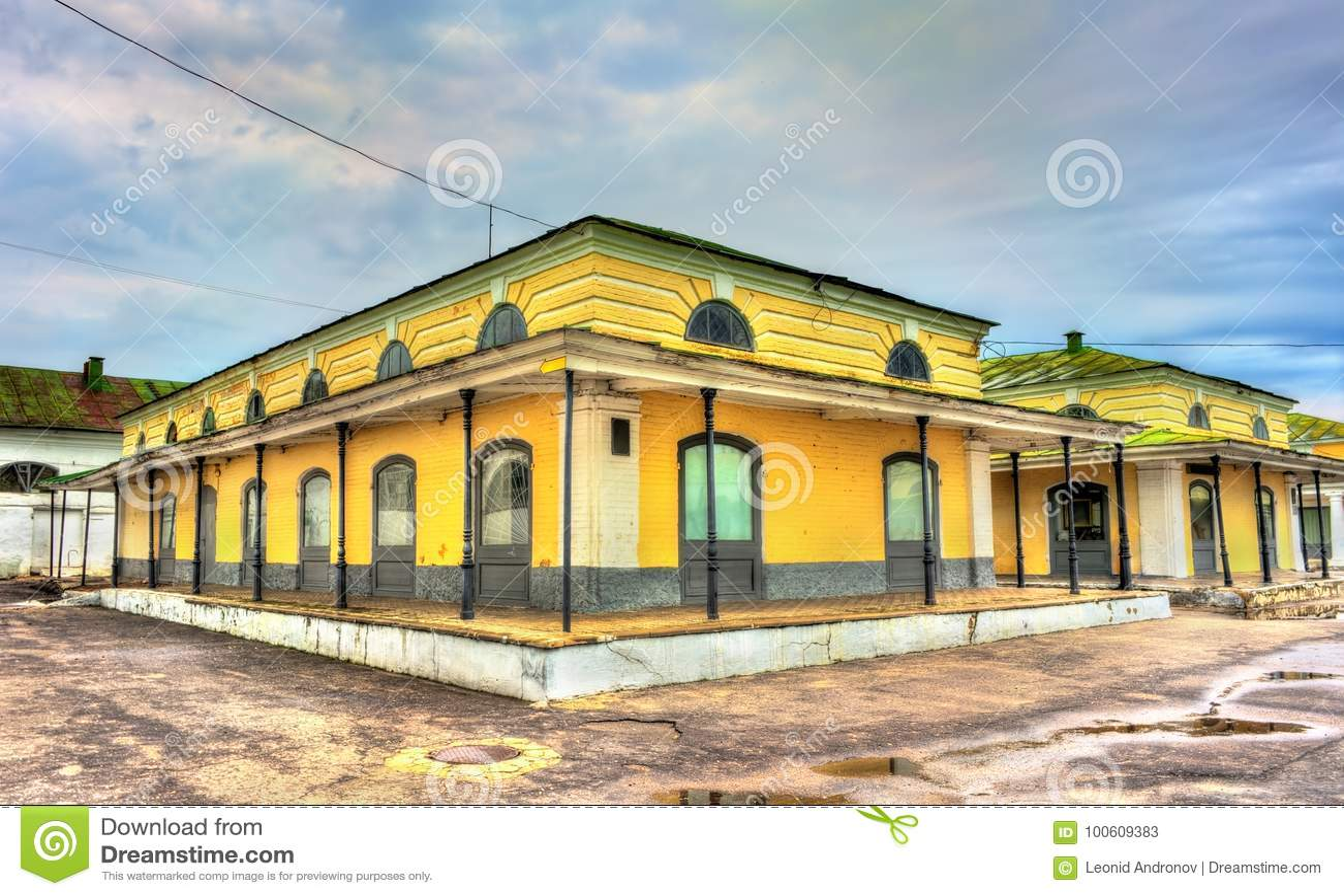 Gostiny Dvor, επαρχιακές νεοκλασσικές εμπορικές συναλλαγές arcades σε Kostroma, Ρωσία