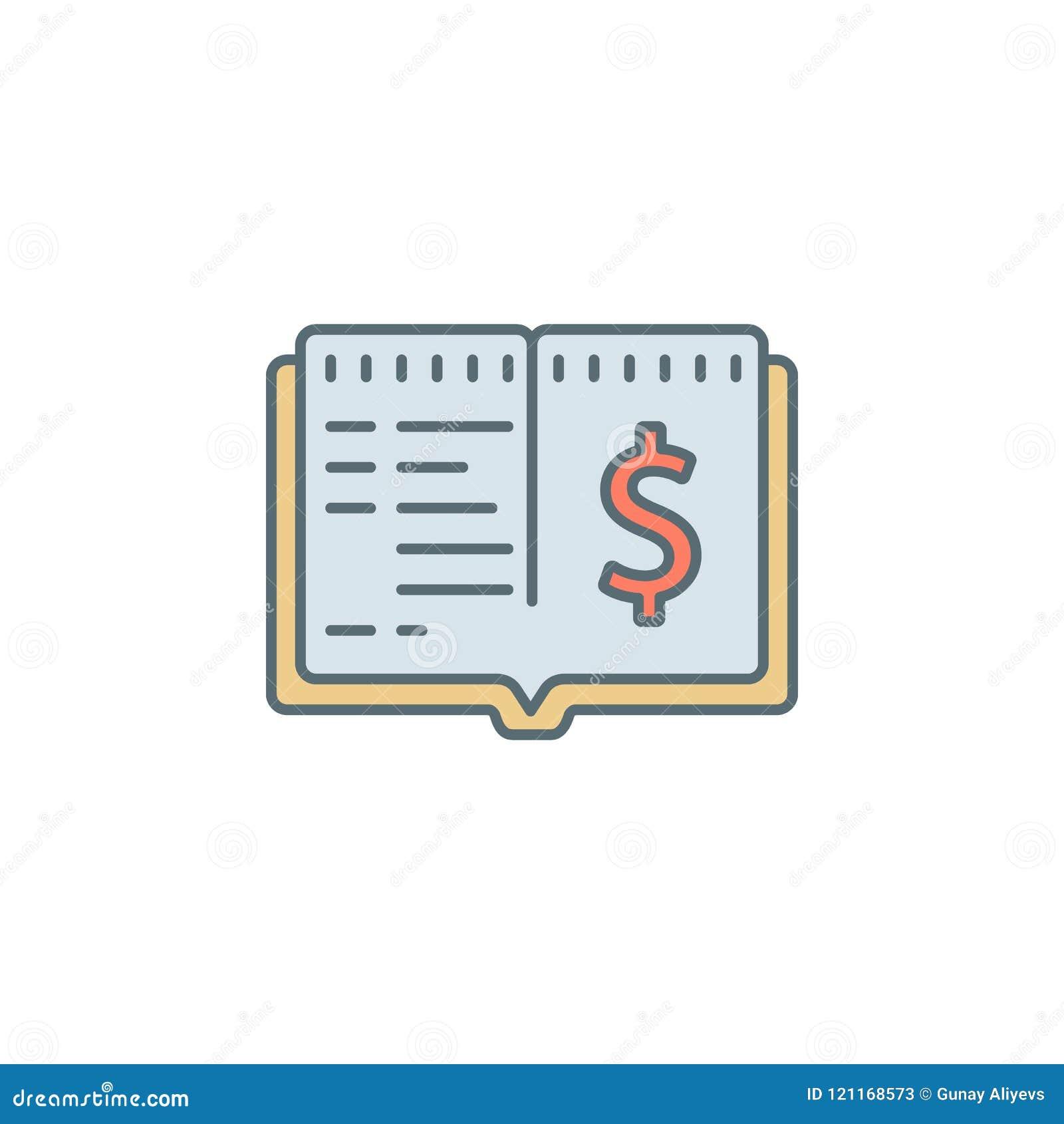 Gotówkowej książki półmroku stylu linii ikona Element bankowości ikona dla mobilnych pojęcia i sieci apps Półmrok gotówkowej ksią