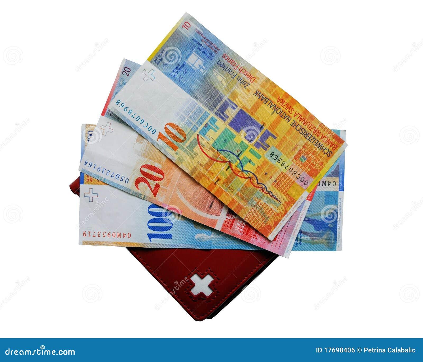 Gotówkowy szwajcarski portfel