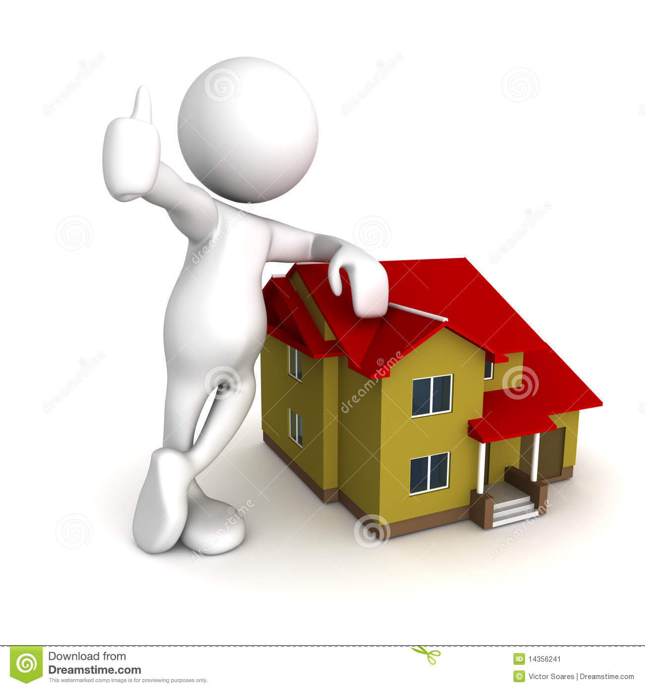 Got My Dream House Stock Illustration. Image Of Financial