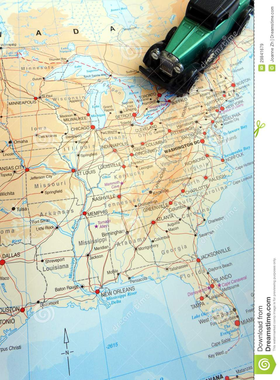 Road Trip Through North America Concept Royalty Free Images – North America Travel Map