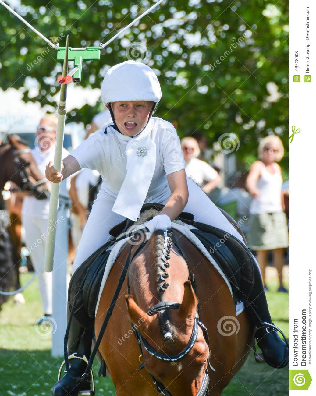 Got it! - young girl on horse at ring riding