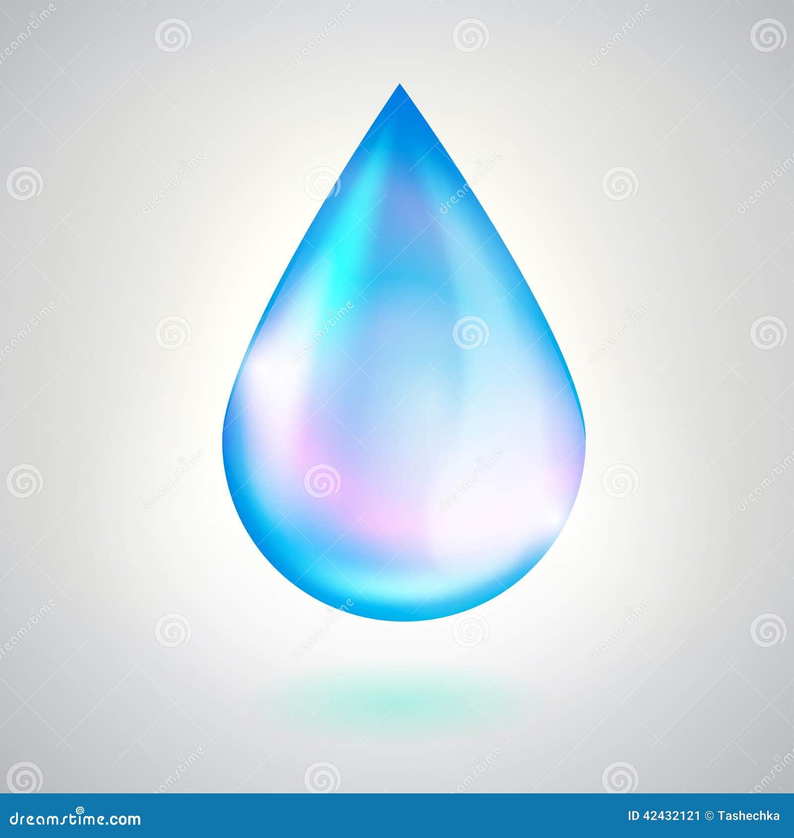 Gota del agua azul