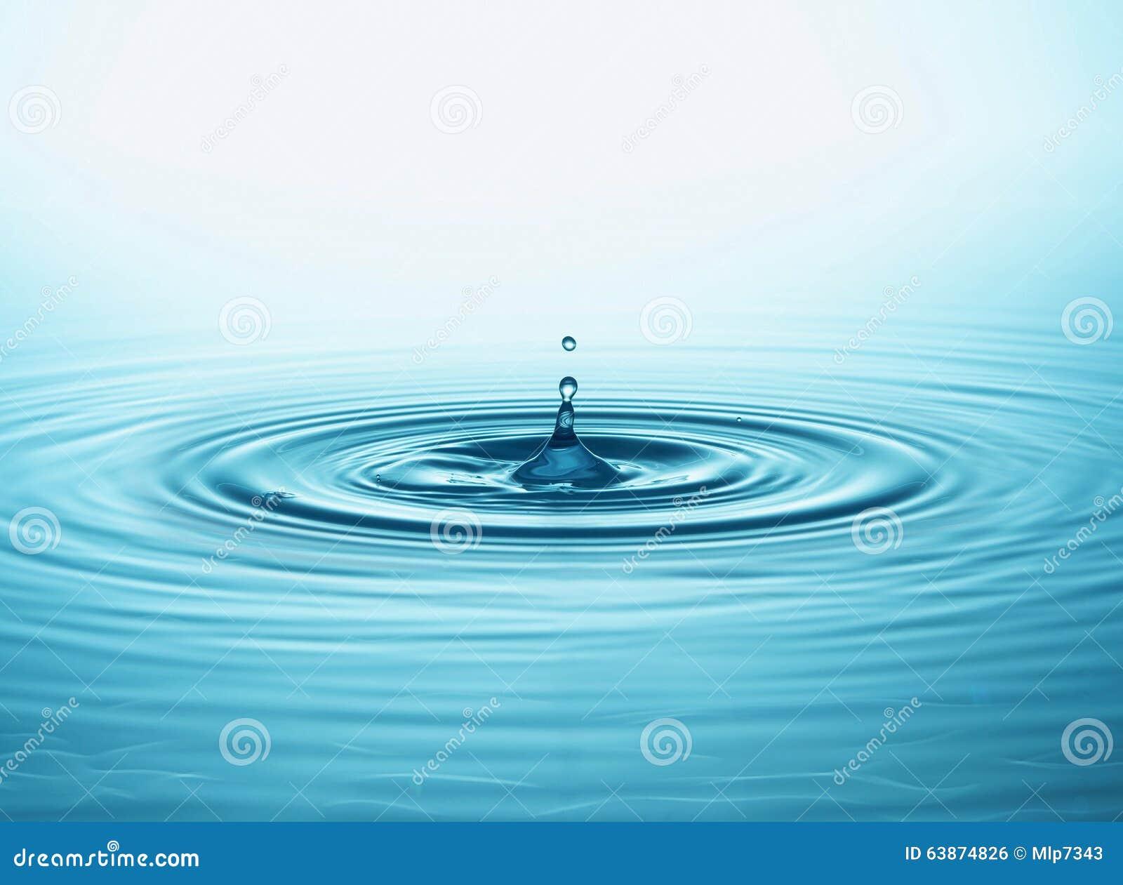 Gota e respingo da água