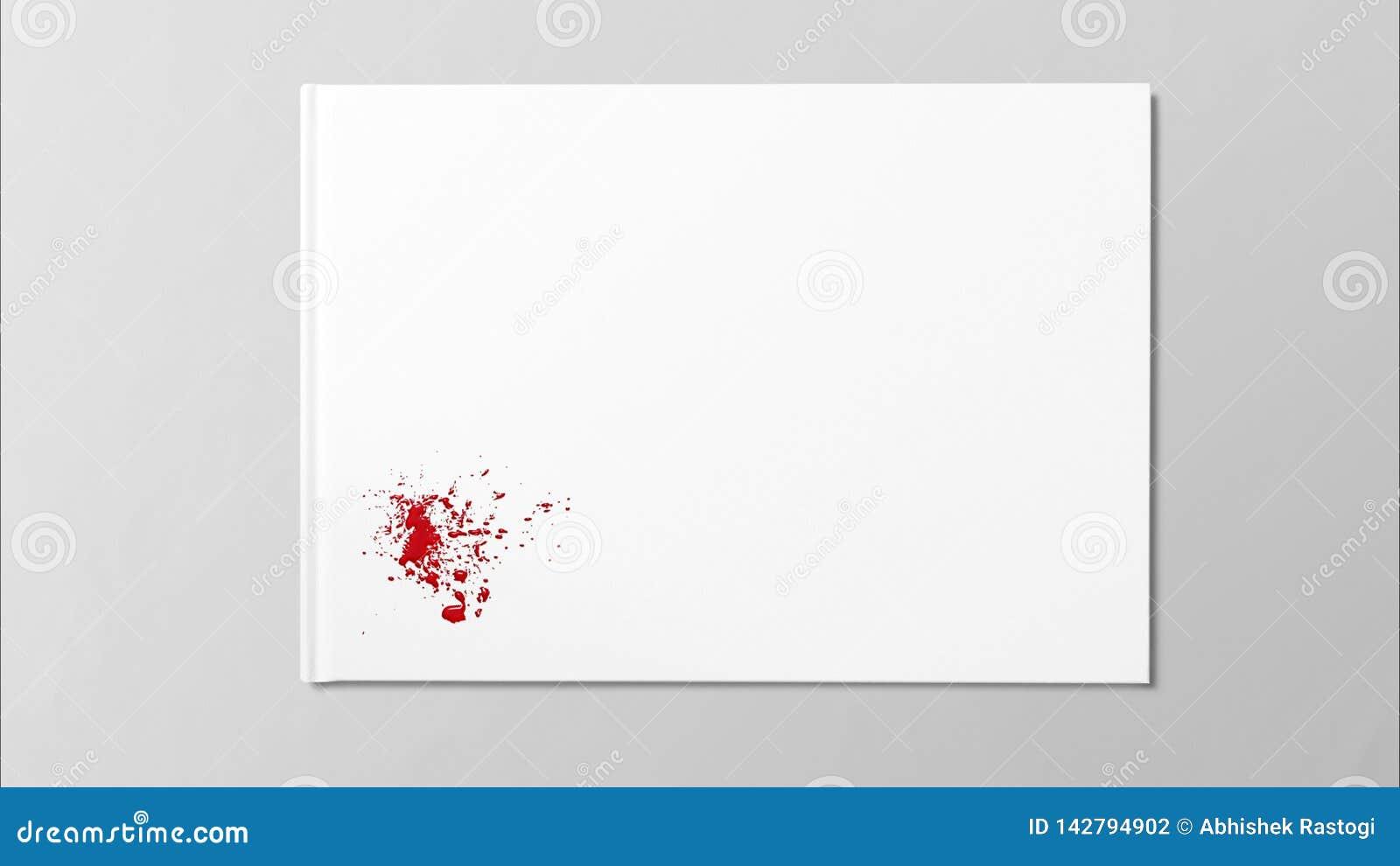 A gota vermelha chapinha a pintura da arte da mancha no Livro Branco
