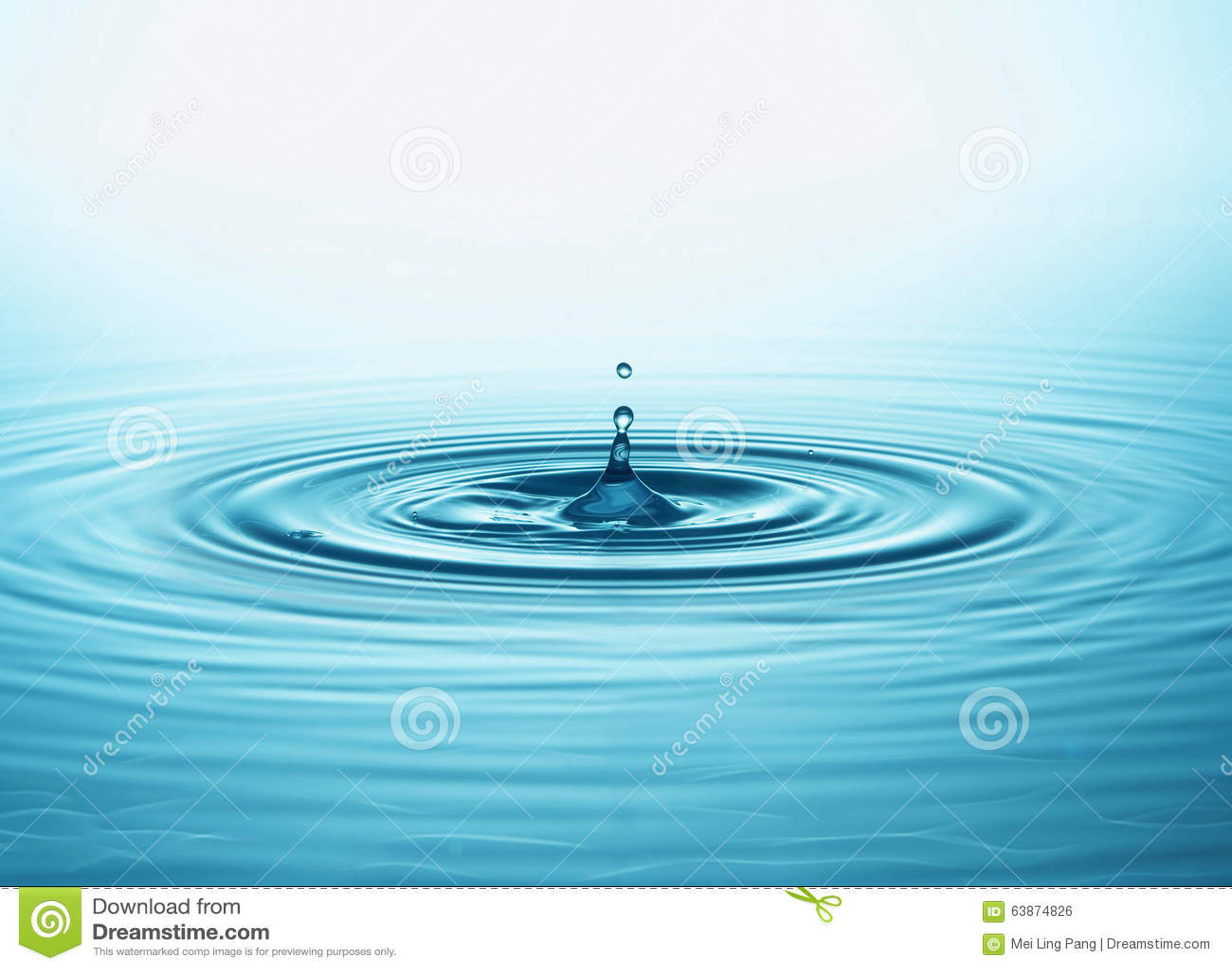 Gota y chapoteo del agua
