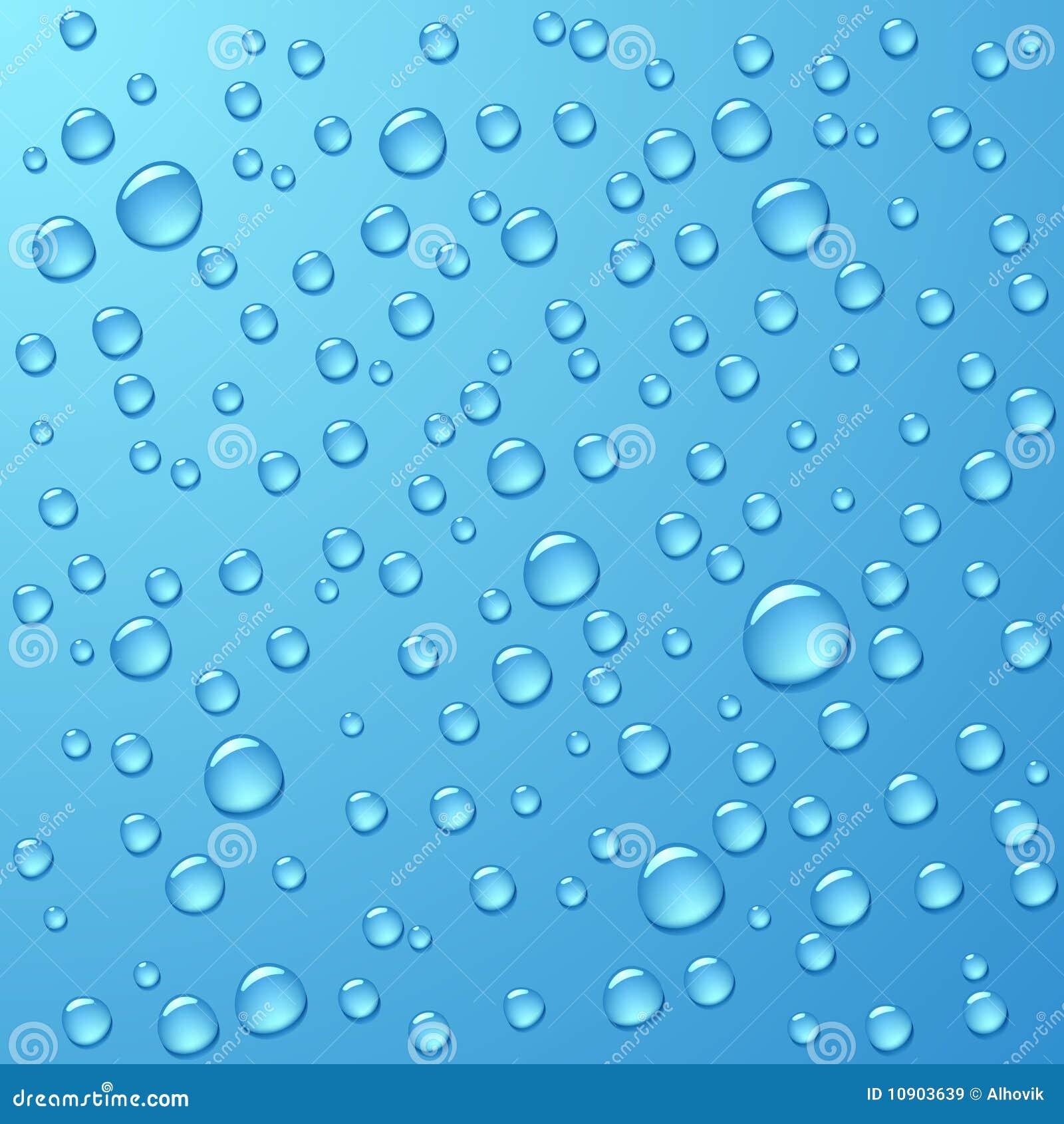 Gotas da água. Vetor.