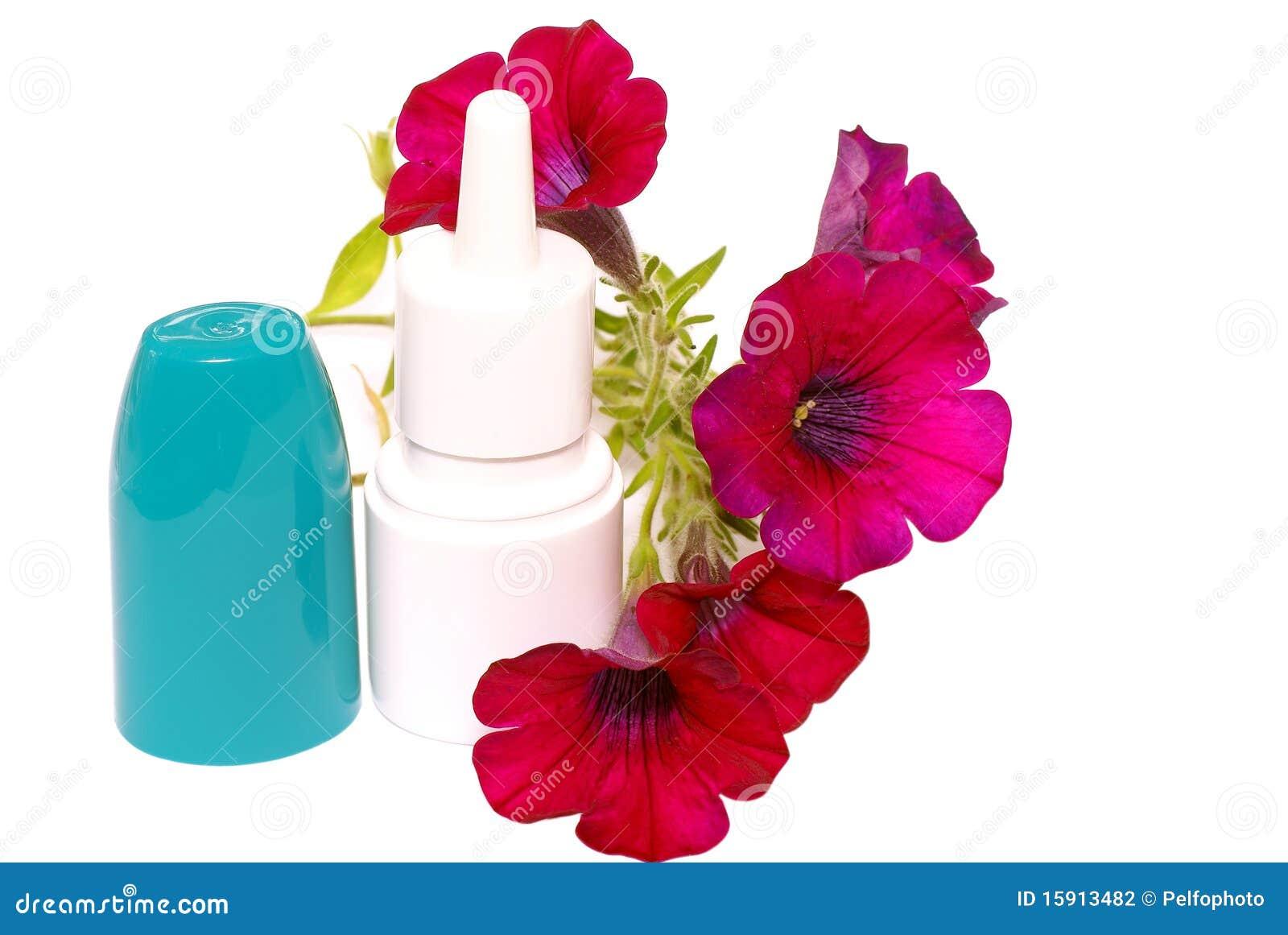 Gotas da Anti-alergia no nariz.