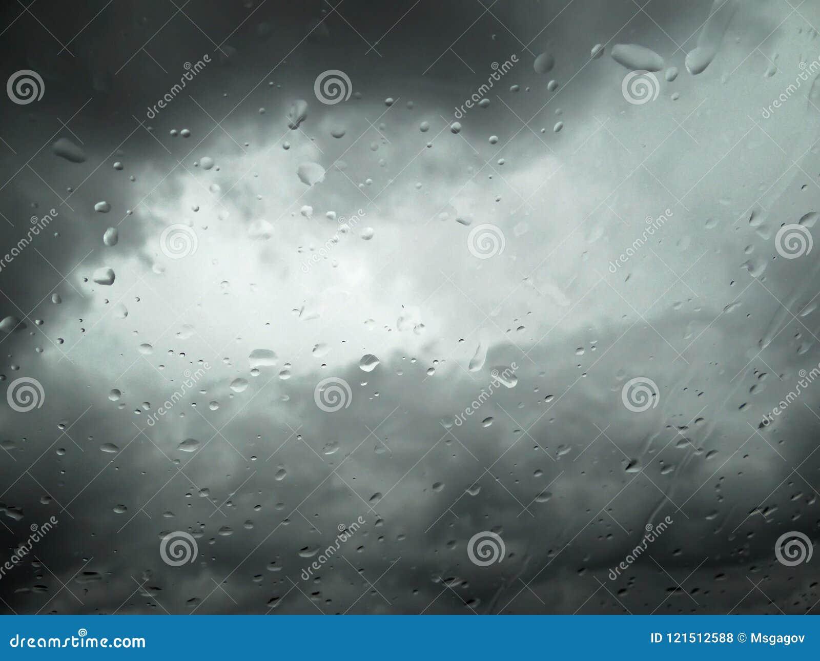 Gotas da chuva na janela