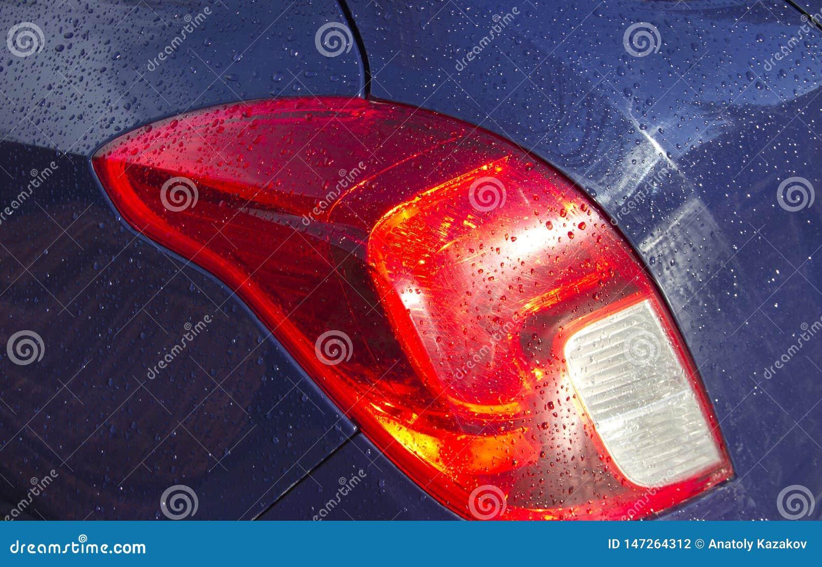 Gotas da ?gua no corpo de carro