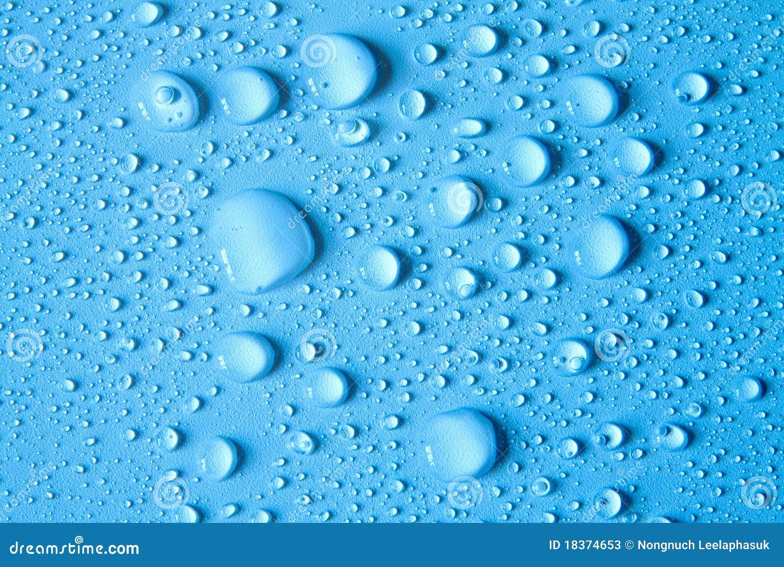Gotas del agua en fondo azul imagen de archivo imagen for Fondos animados de agua