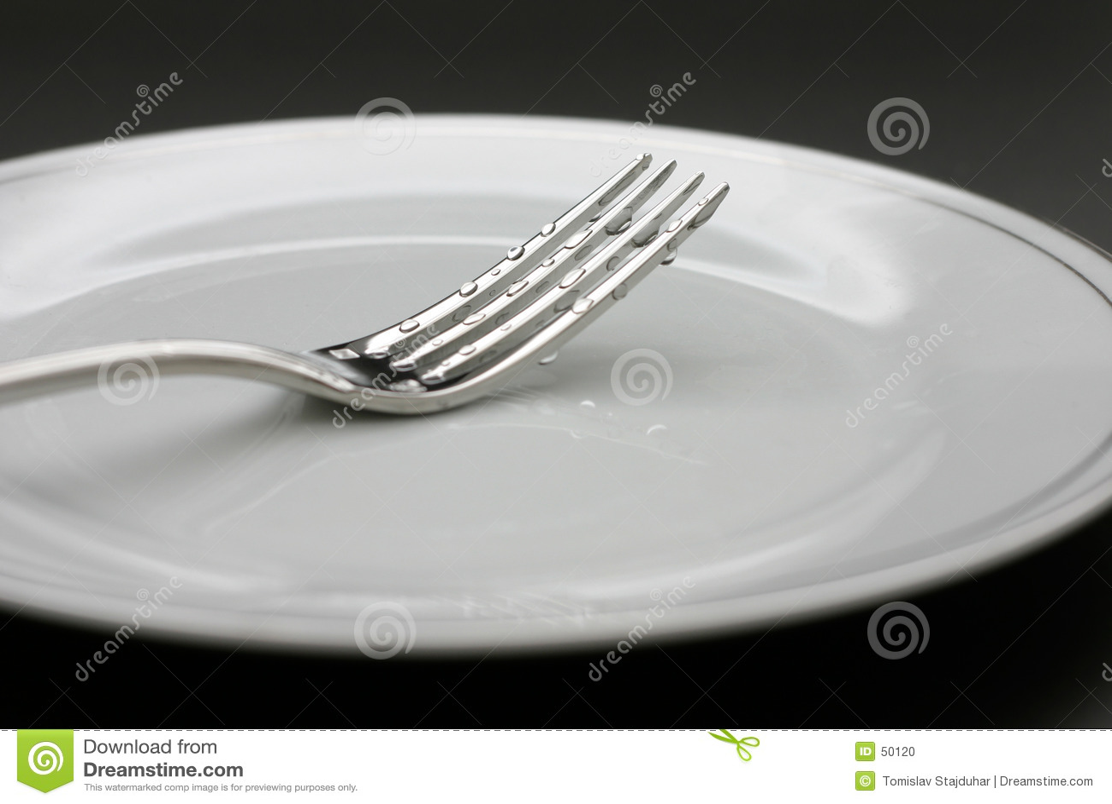 Gotas en una fork