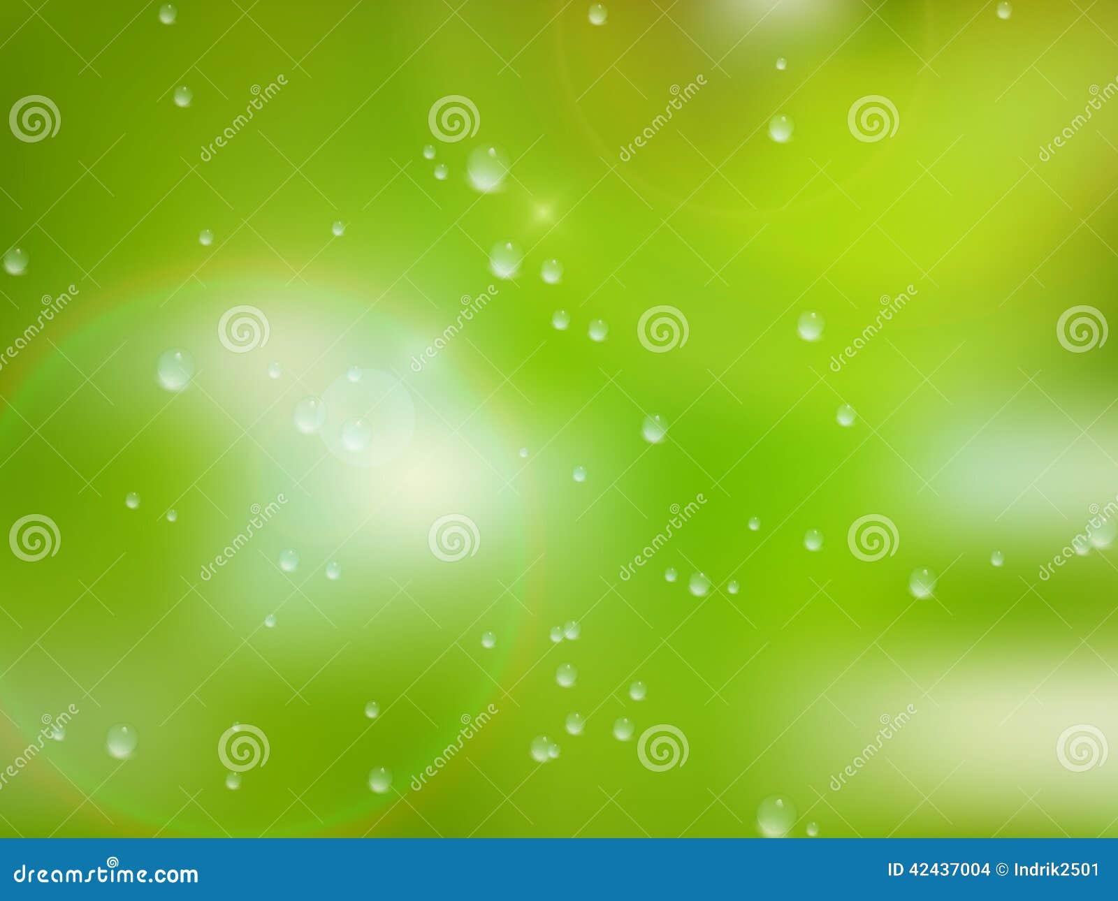 Gotas naturales del agua sobre el vidrio EPS10 más
