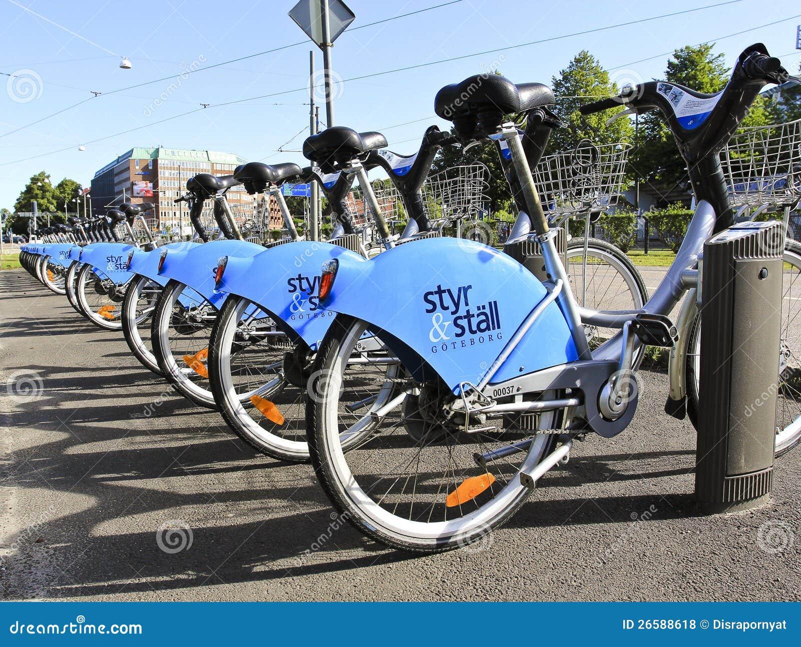 Goteborg Sweden - 9 August 2012 City Bikes in Got
