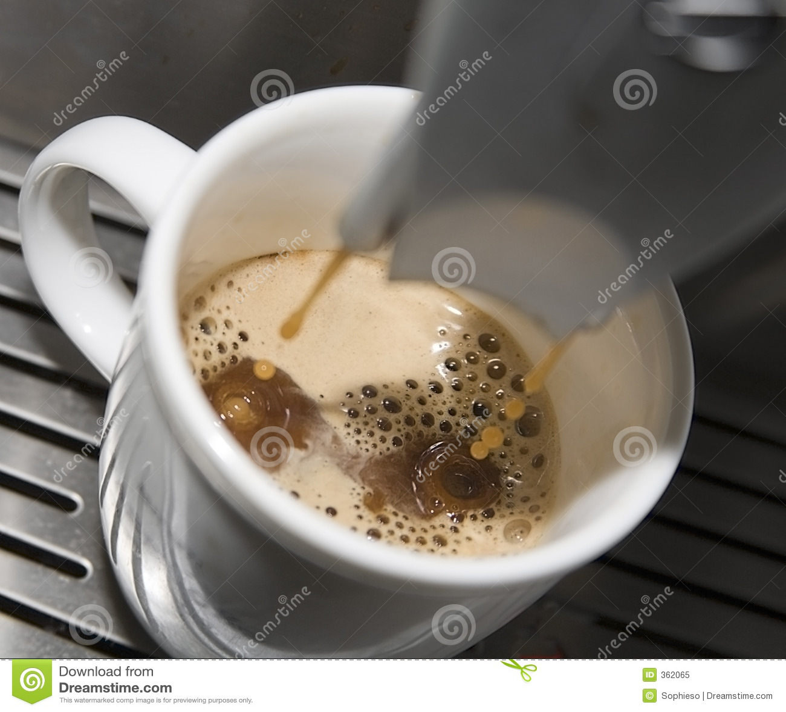 Goteo del café express