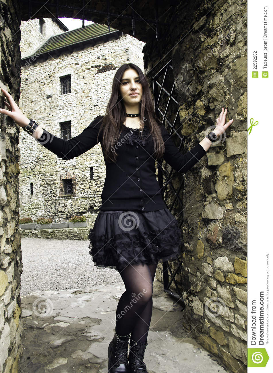 Goth Girl Stock Photo Image Of Sidewalk Model Grunge