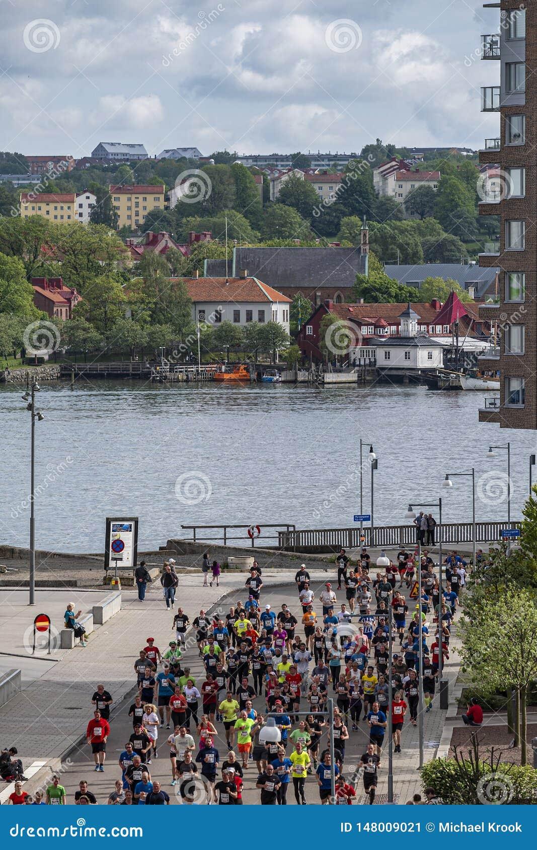 Gothenburg, Zweden - Mei 18 de halve marathon van Gothenburg van 2019