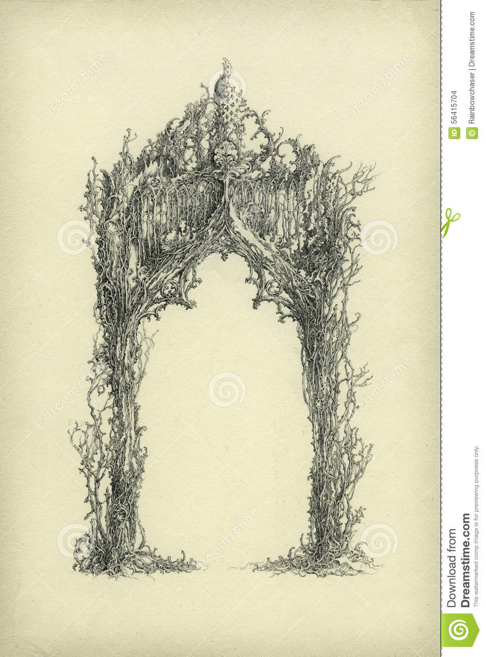 Gothic Arch Stock Illustration Of Allegory