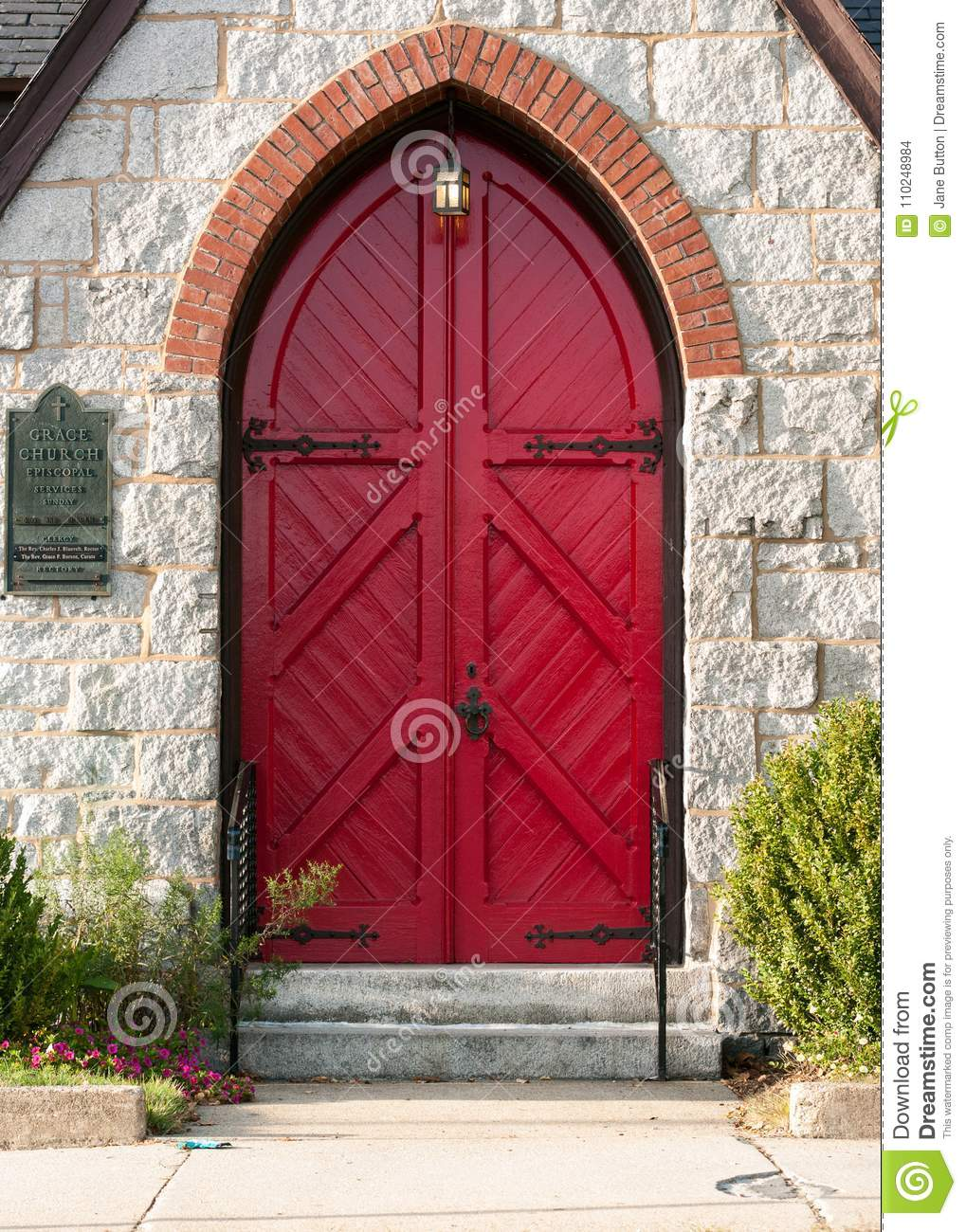 Arched Doorway Of An Episcopal Church Stock Photo Image Of Stone