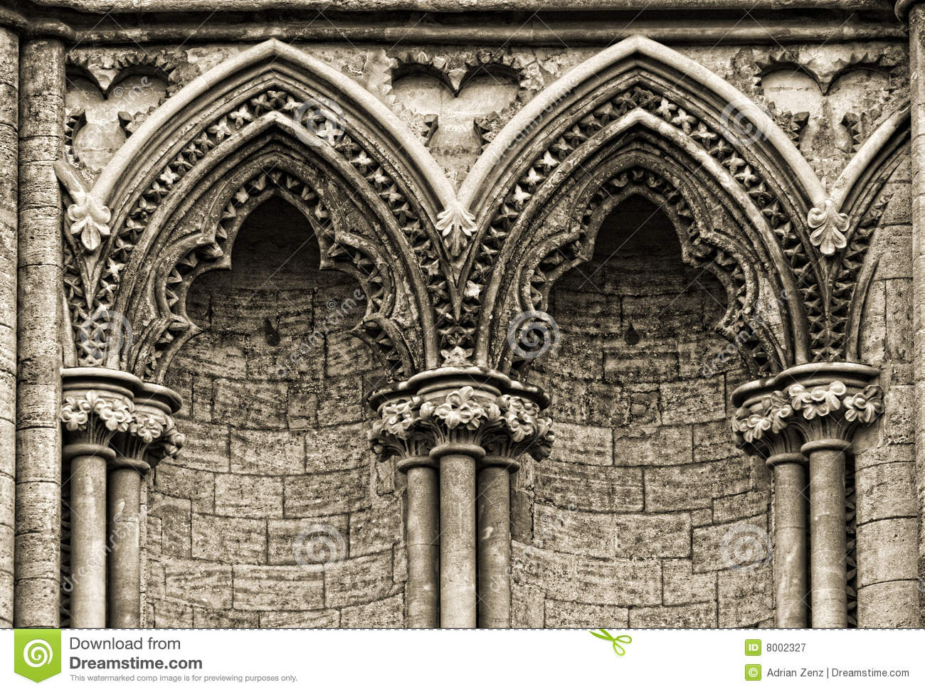 Gothic Arches At The Side Of Ely Cathedral Royalty Free Stock Photography