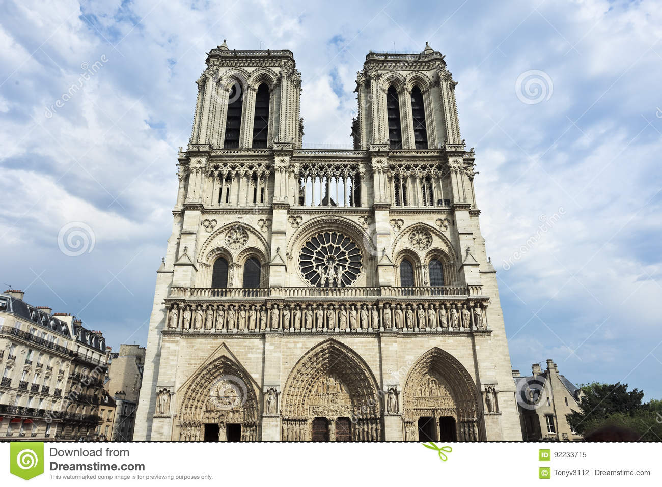 Gothic architecture at notre dame paris royalty free stock for Paris architecture style