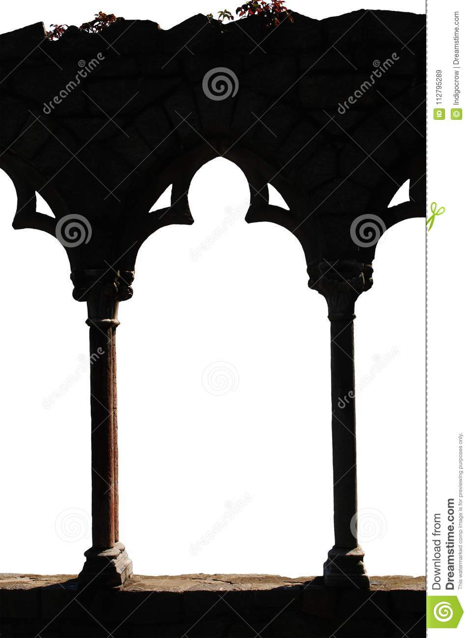 Gothic Archway In Shadows Stock Image Of Design