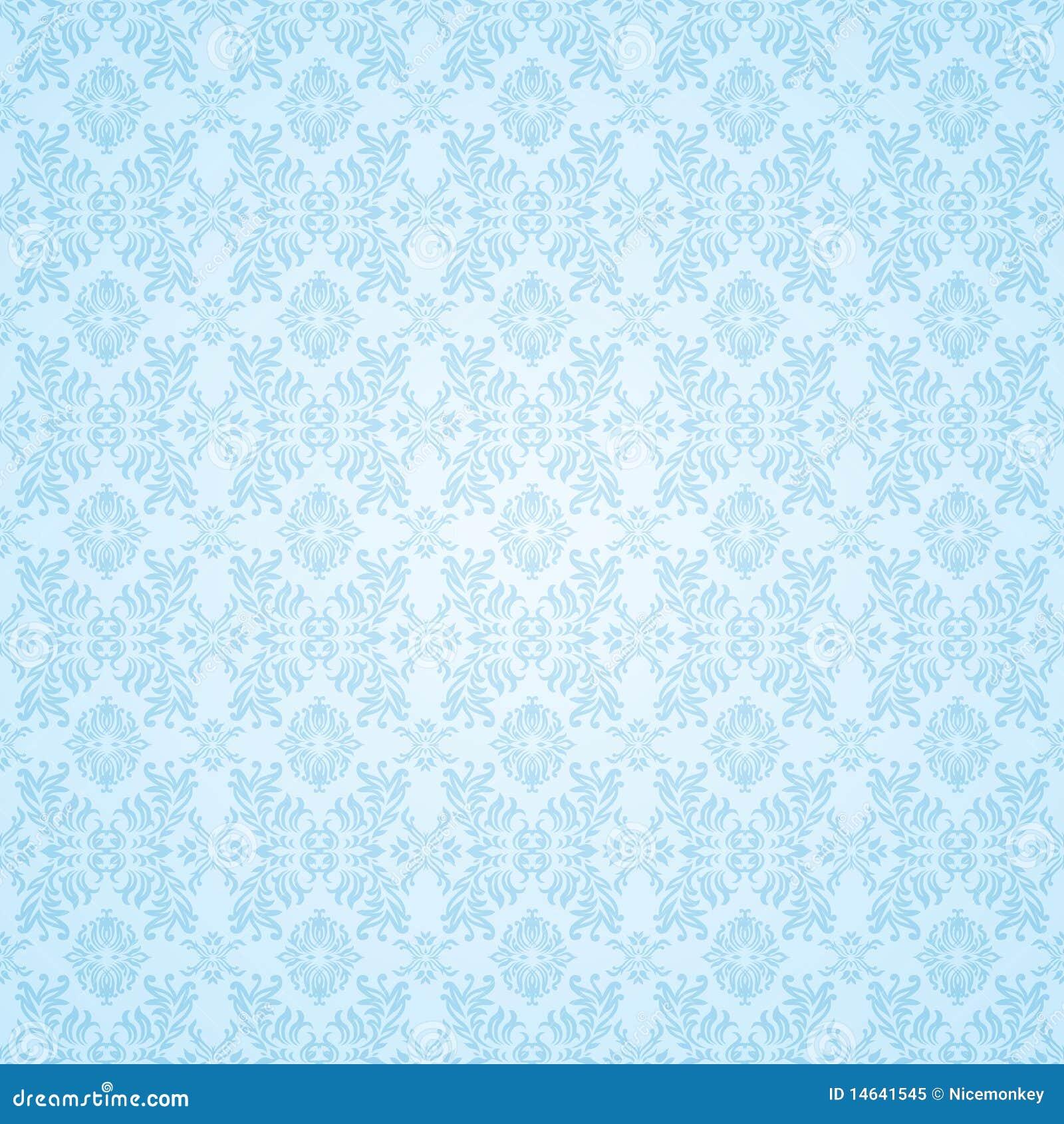 Gothic Blue Seamless Wallpaper Stock Vector Illustration Of Dark