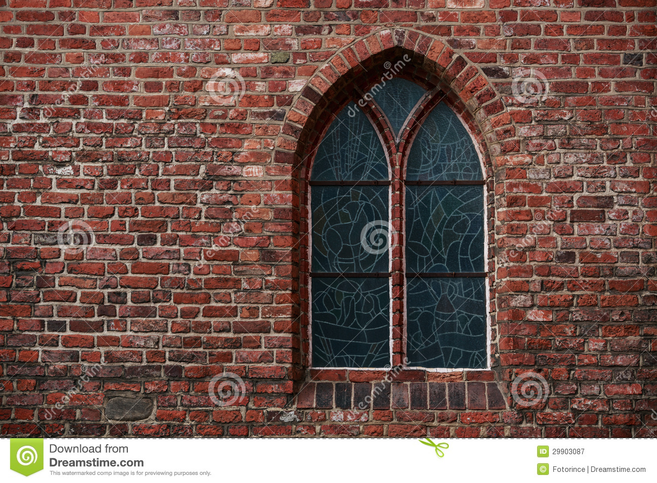 Gothic Brick Wall With A Window