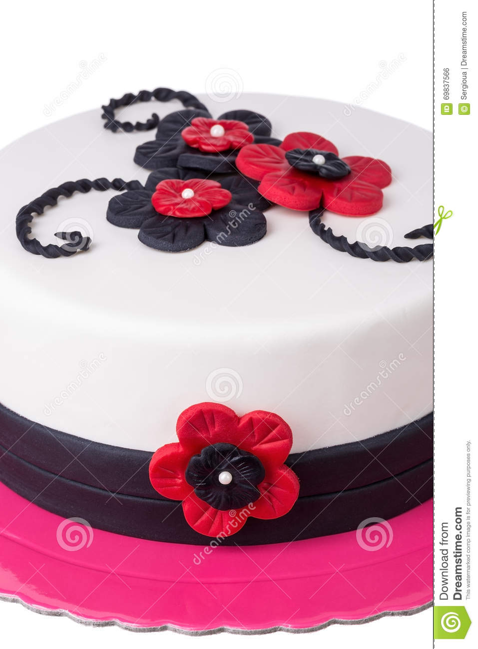 Sensational Gothic Cake Red Flowers Close Up Stock Photo Image Of Icing Birthday Cards Printable Inklcafe Filternl