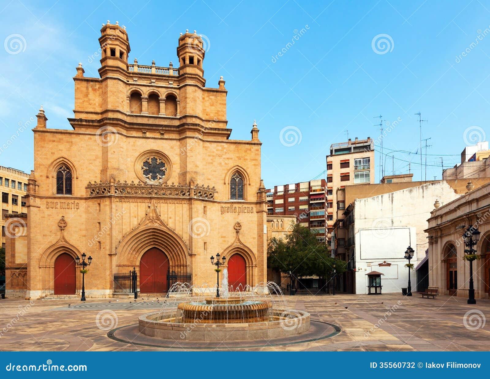 Castellon de la Plana Spain  city photo : Gothic Cathedral At Castellon De La Plana, Spain Stock Photography ...