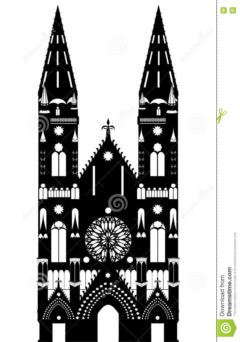 Gothic Cathedral Stock Vector Illustration Of Stylish 74037464