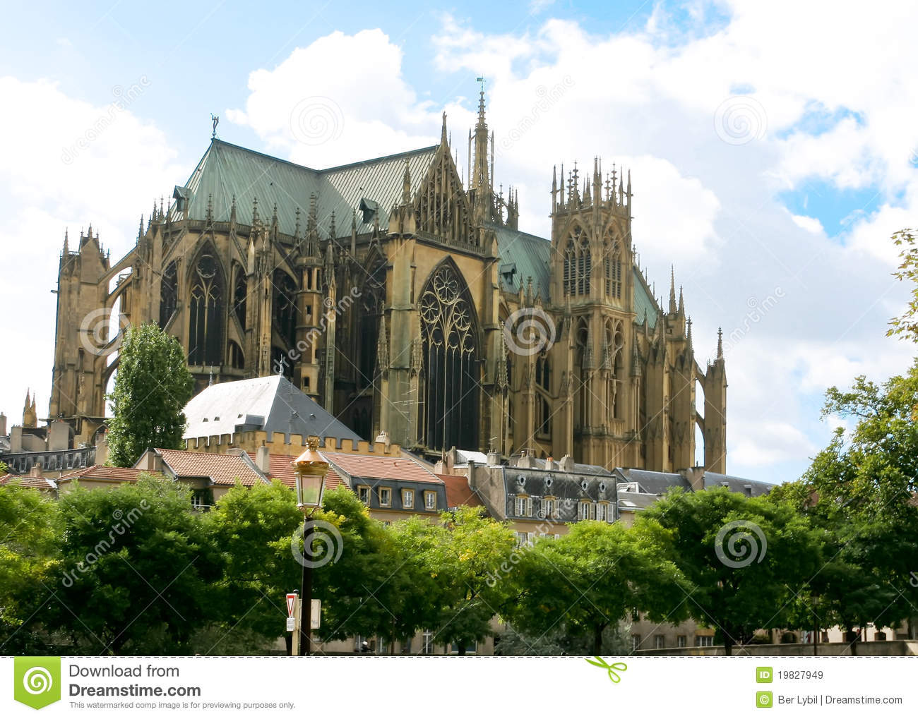 gothic cathedral metz stock image image of retro antique 19827949. Black Bedroom Furniture Sets. Home Design Ideas