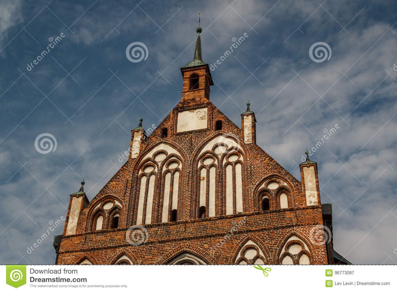Gothic church in the historic centre of Greifswald
