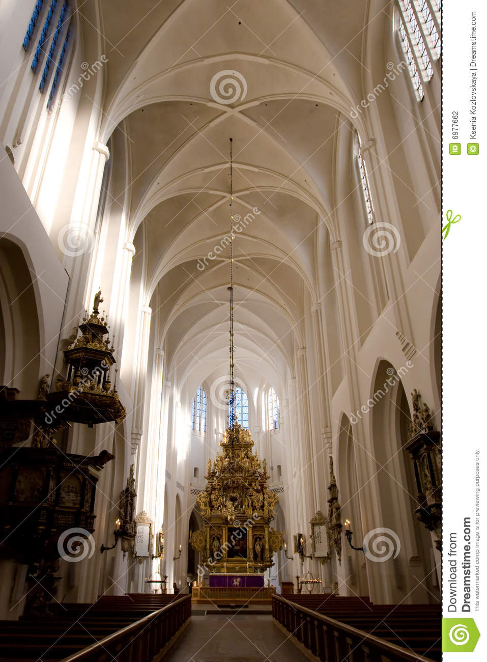 Gothic Church Interior Stock Photo Image Of Medieval