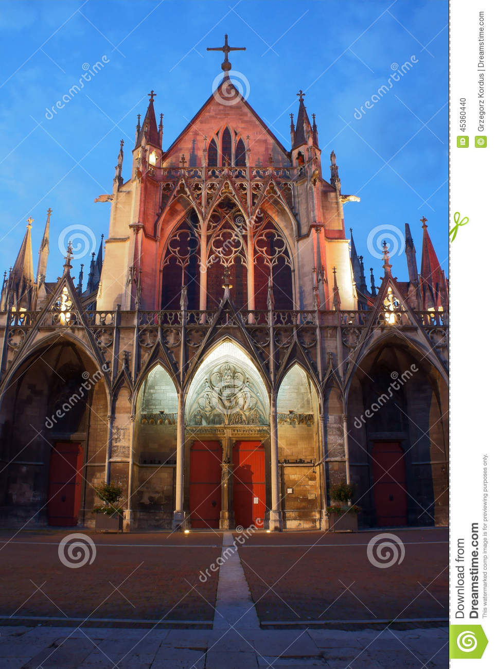 Gothic Church At Night Stock Photo Image Of Tree