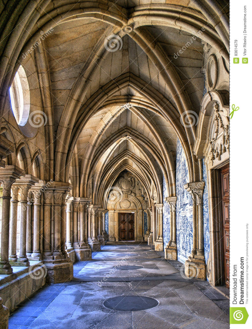 Gothic cloister of the cathedral of Porto
