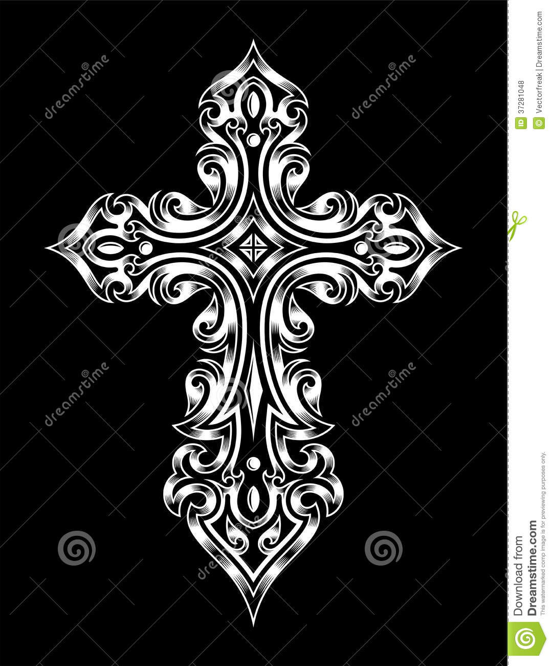 Gothic cross royalty free stock photos image 37281048 for Gothic design elements