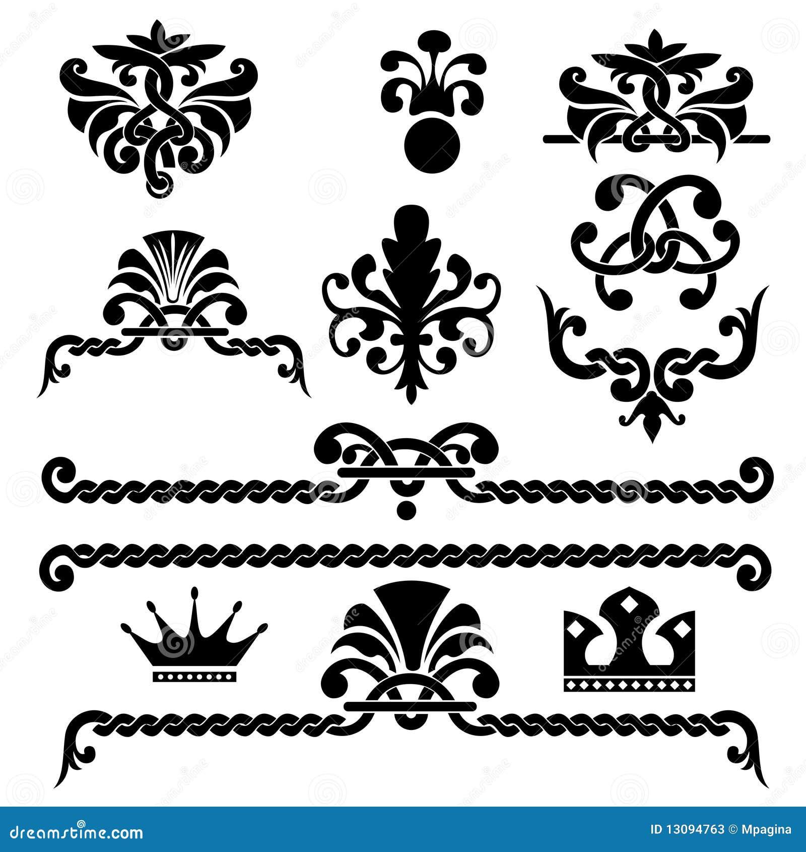 Gothic design elements Stock Photos
