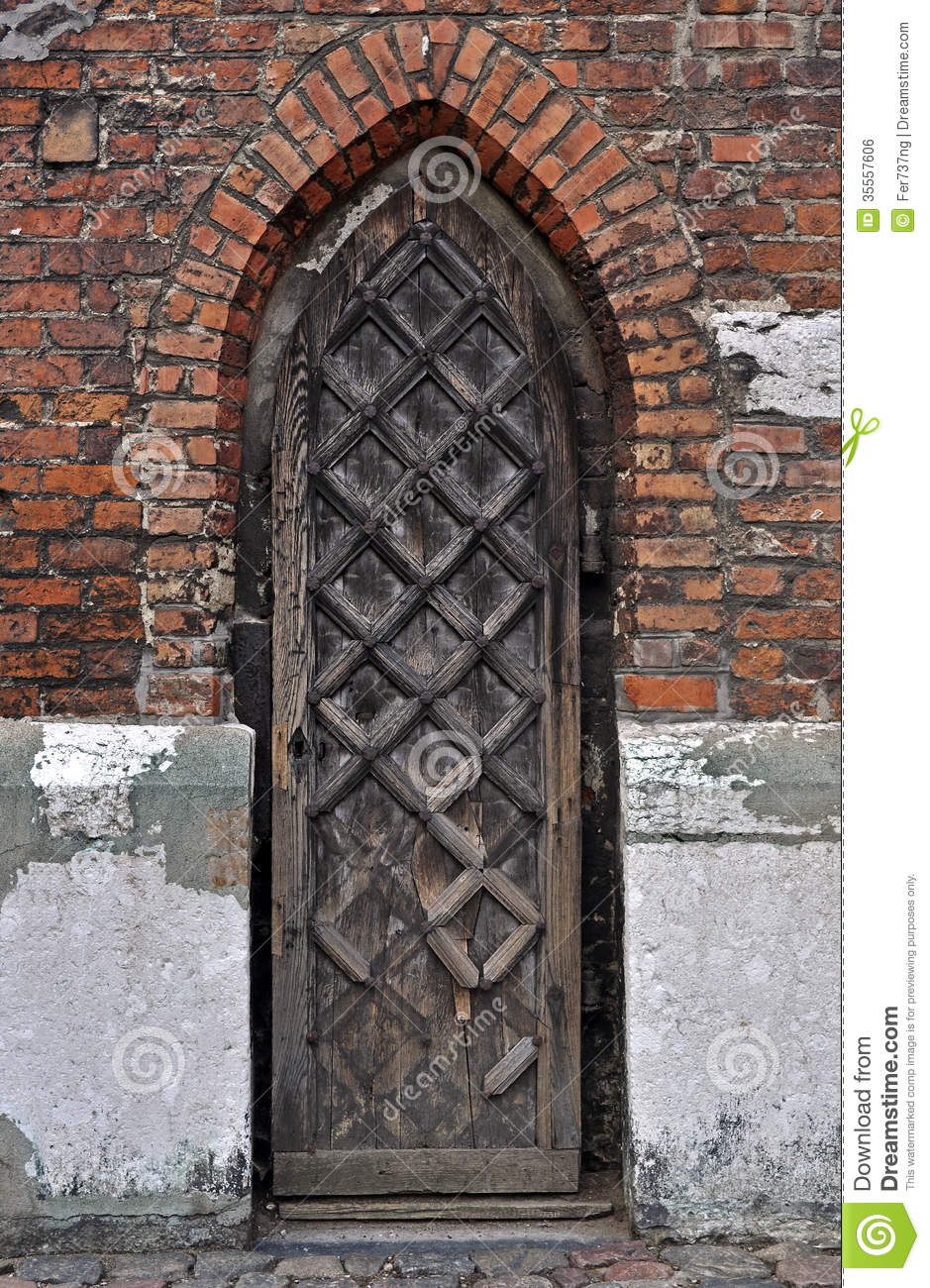Historical Stock Prices >> Gothic door. stock photo. Image of door, medieval, arch - 35557606