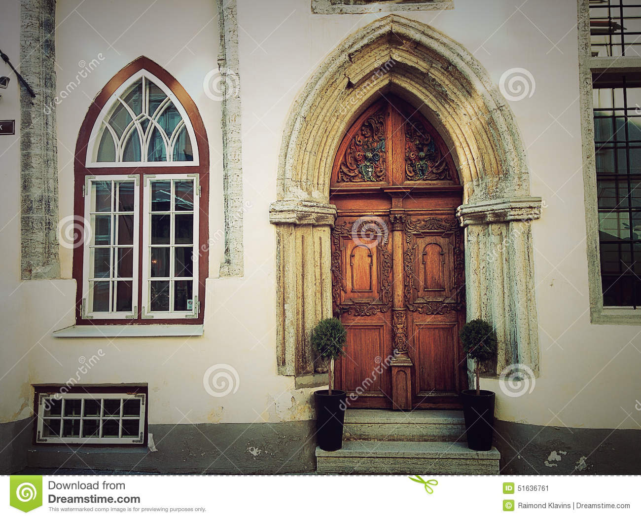 Gothic Door And Window Old House