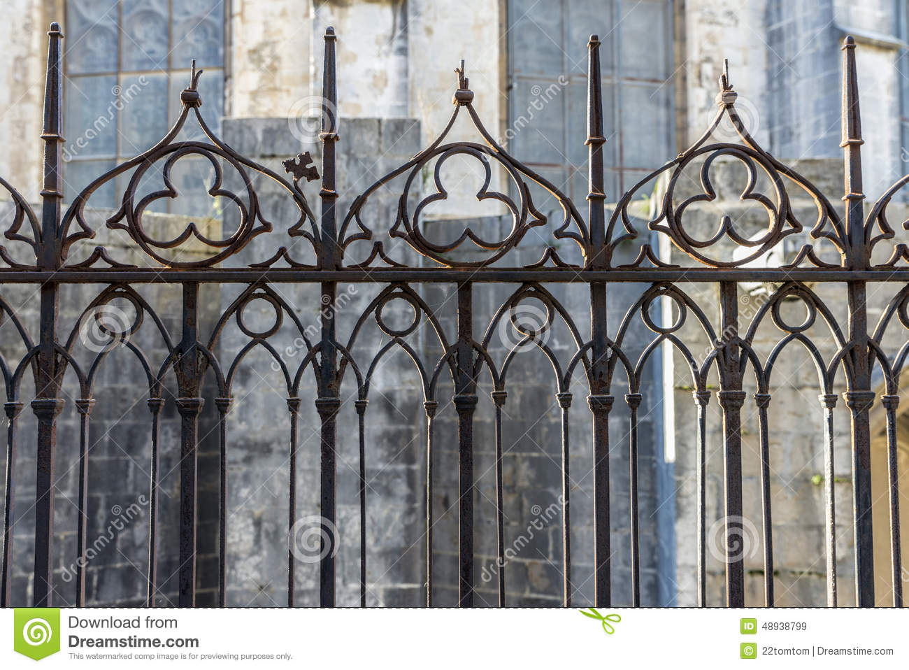 Gothic Fence Stock Image Image Of Backgrounds Metal