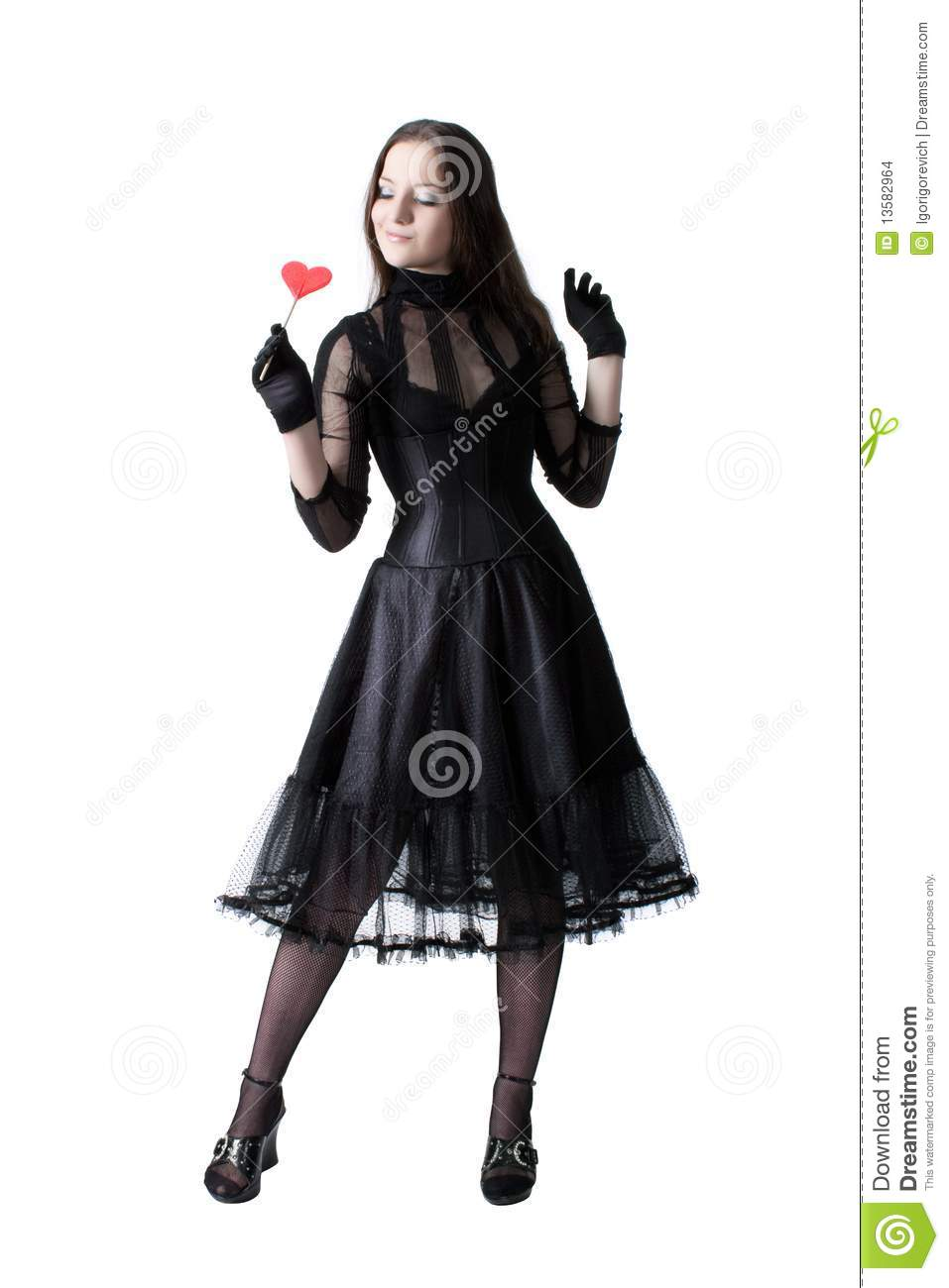 Gothic Girl With Lollipop Stock Images Image 13582964