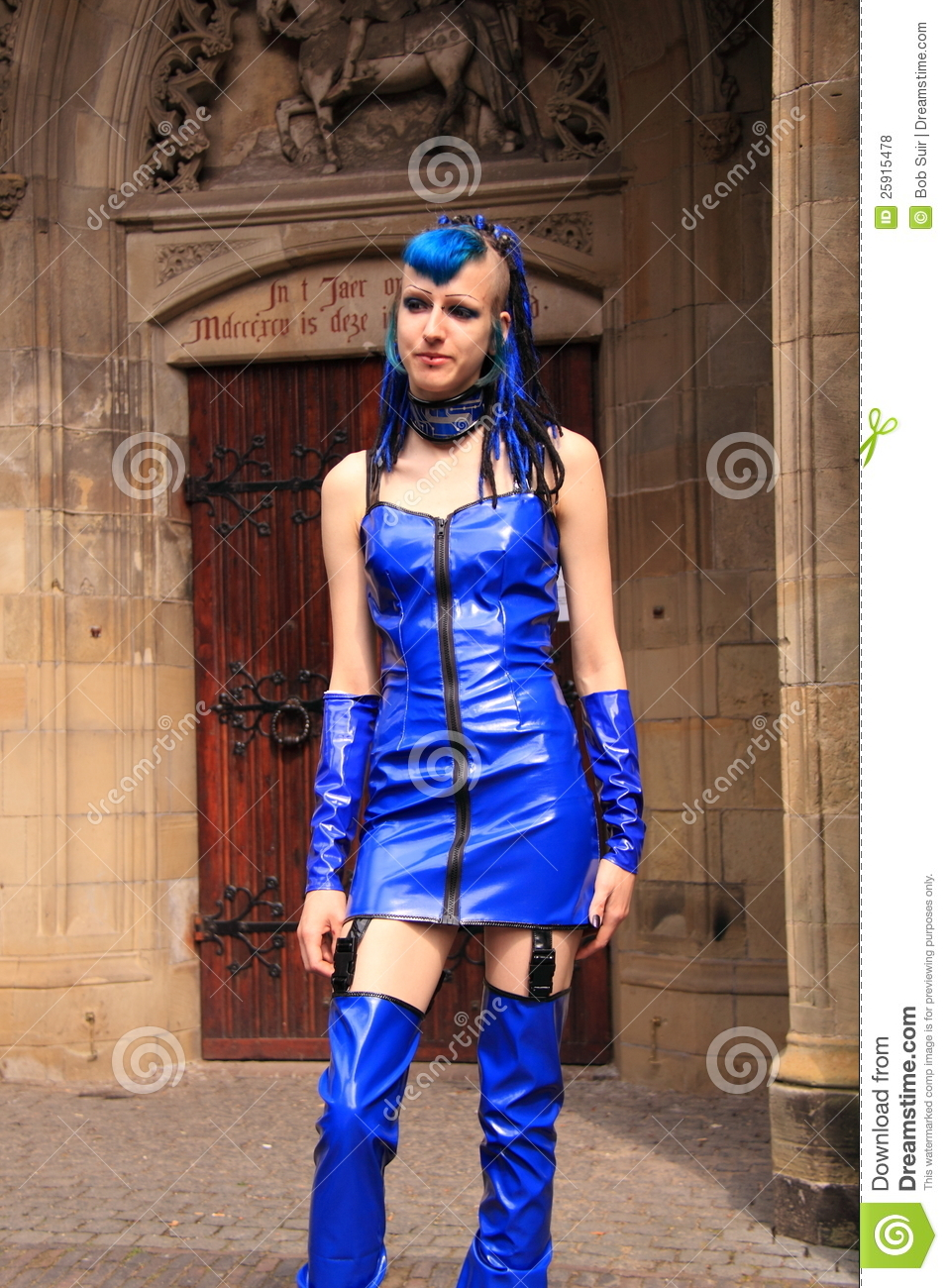 Gothic Girl Street Style Editorial Stock Photo Image Of