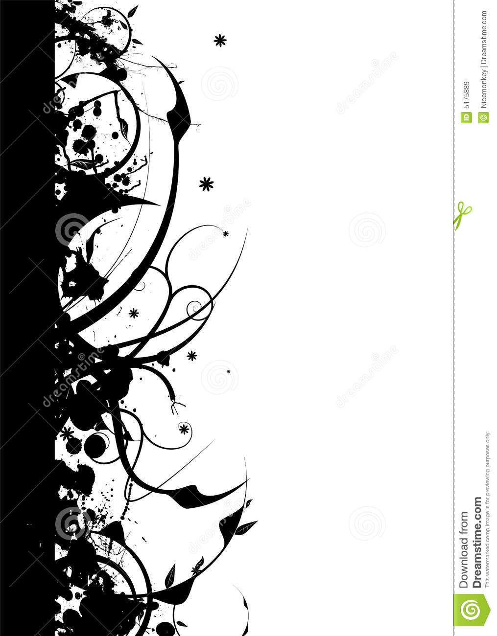 Gothic Nature Border Stock Vector Illustration Of Silhouette