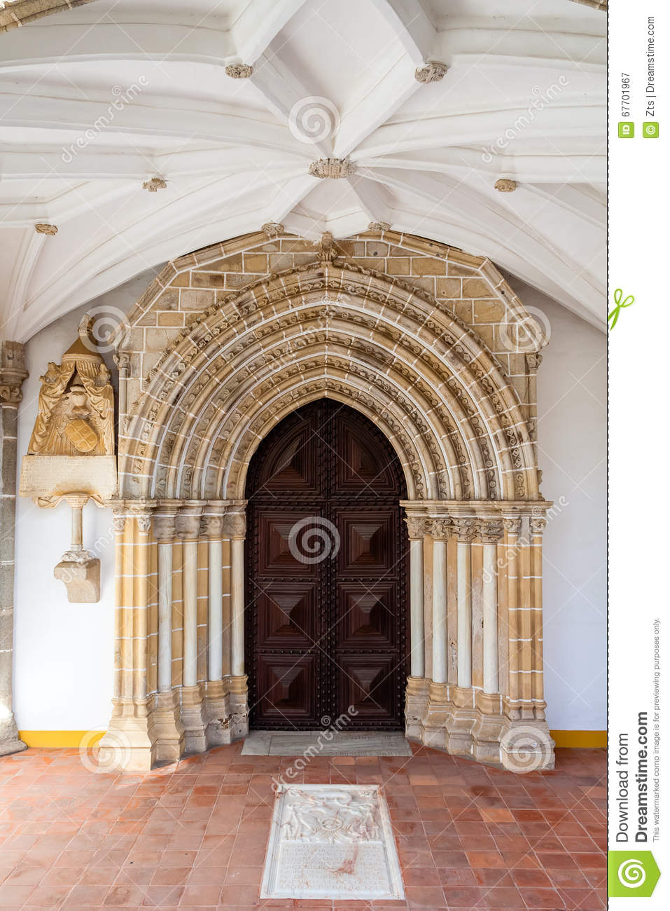 Gothic portal in the Loios Convent used as a Historical Hotel.