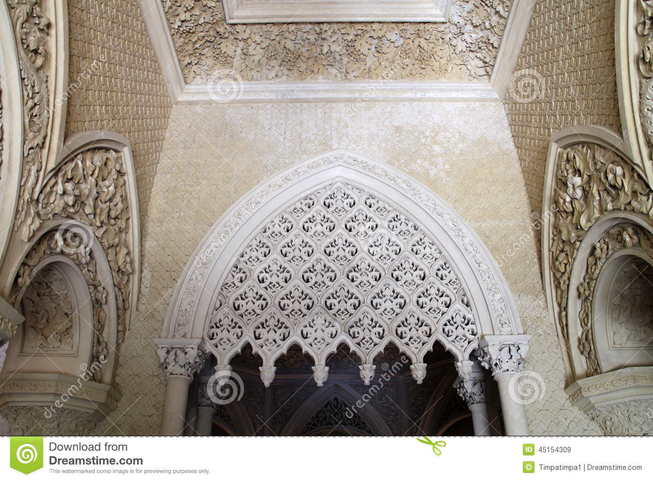 gothic revival interiors in monserrate palace sintra