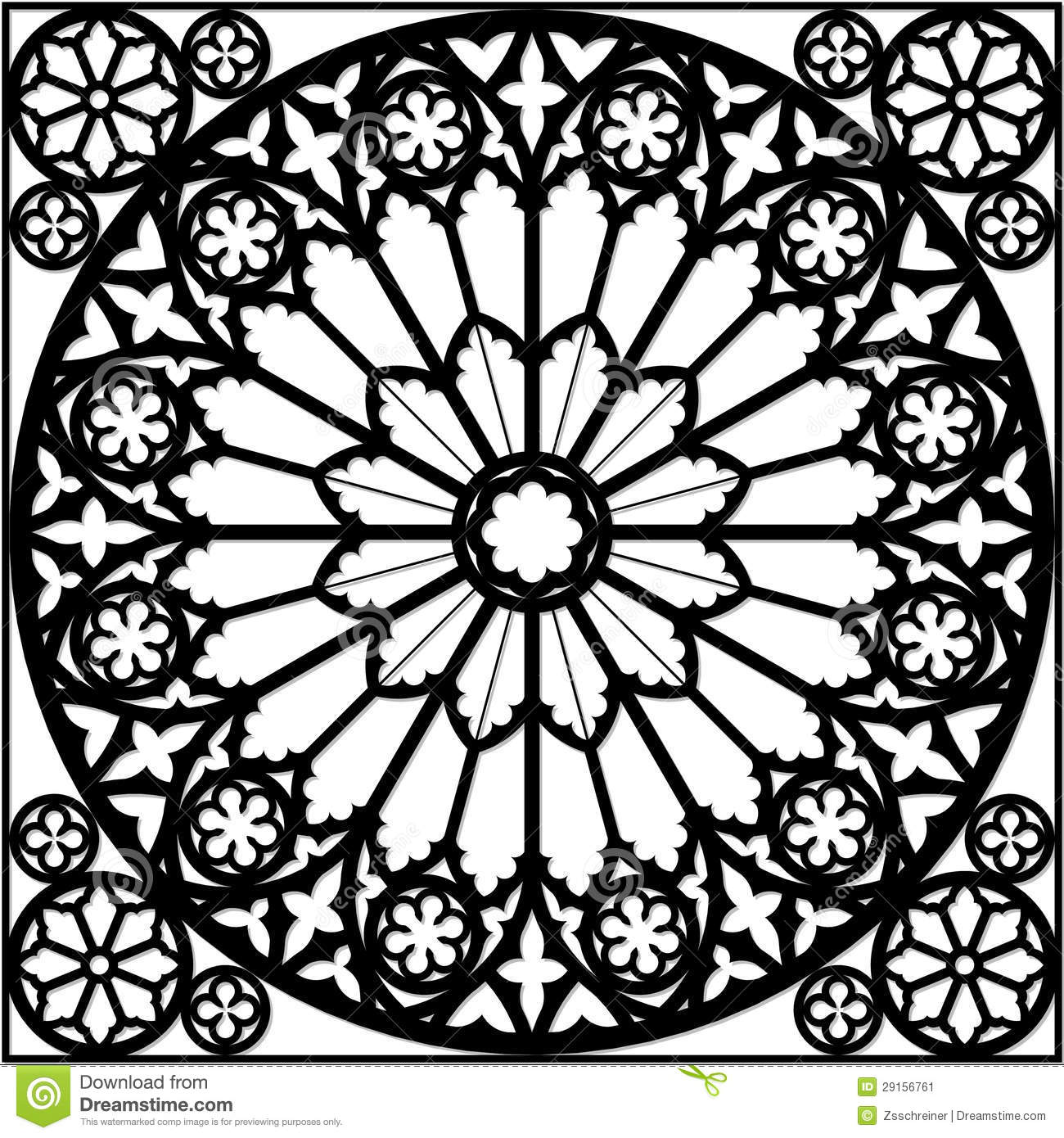 Gothic Rose Window Stock Illustration Of Design