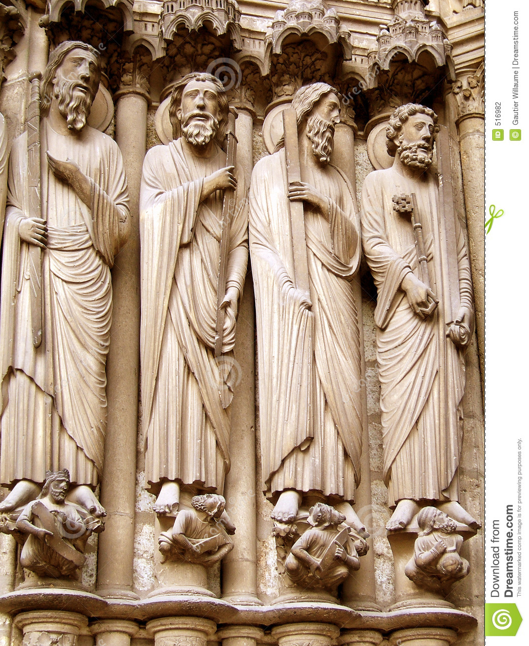 Gothic sculpture stock photography image 516982